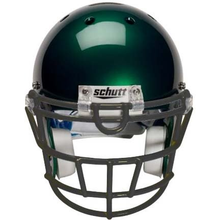 Black Reinforced Jaw and Oral Protection (RJOP-UB-DW-YF) Youth Flex Football Helmet Face (Reinforced Jaw)