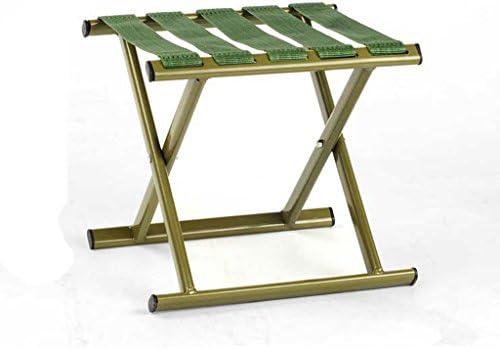 グリーン折りたたみチェア屋外キャンプ釣り折りたたみチェアホーム大人の子供ポータブル折り畳み式屋外用スツール強力な負荷ベアリング (Size : L27.5*W25*H24.5cm)
