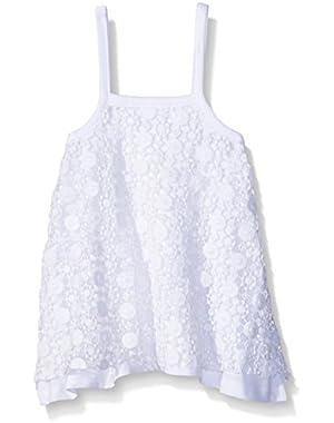 Girls' Organic Crochet Layered Dress