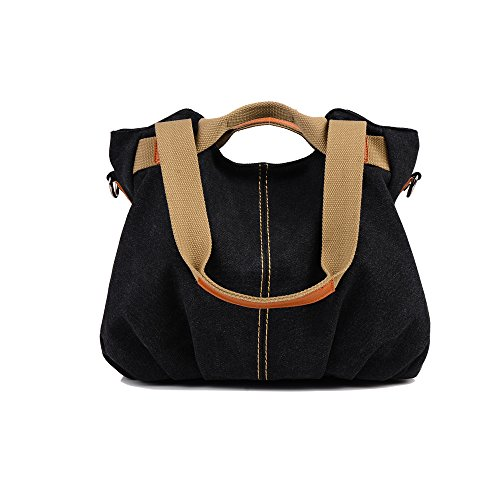 Chikencall Women Bags Casual Vintage Hobo Canvas Mulit-Pocket Daily Purse Top Handle Shoulder Tote Shopper (Heart Hobo)