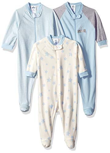 Gerber Baby Boys' 3-Pack Organic Sleep 'N Play, Little Star, 3-6 Months -