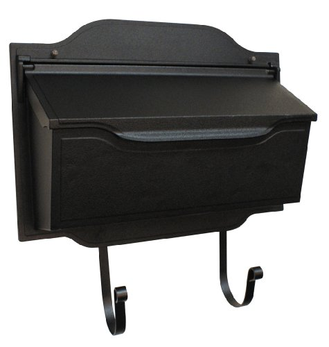Wall Mailbox Blk (Special Lite Products SHC-1002-BLK Contemporary Horizontal Mailbox, Black)