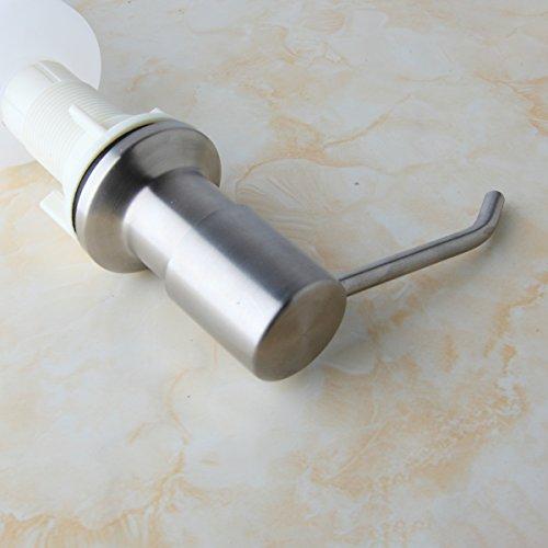 Nickel Brushed Kitchen Sink Accessories Pump Soap Dispenser Foam Liquid Bottle Stainless Steel Deck Mount by Yutfaucet (Image #5)