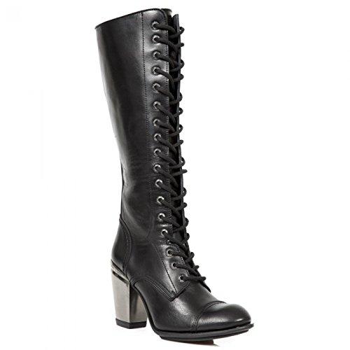 New Rock Boots M.tx009-c1 Gotico Hardrock Punk Damen Stiefel Schwarz