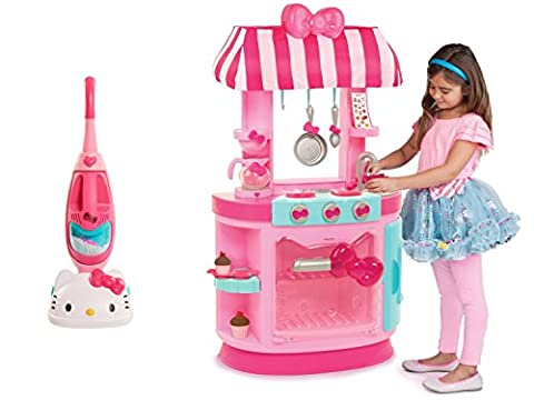 Hello Kitty Kitchen Cafe and Hello Kitty Vacuum Cleaner Playset, Bundle