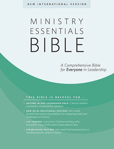 Ministry Essentials Bible-NIV: A Comprehensive Bible for Everyone in Leadership (Flexisoft, Black/Brown)