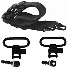 """Ultimate Arms Gear Two 0.5"""" & 0.75"""" Wood Screws Studs Swivels with Spacers + Sling, Black Springfield Armory, M1A, M1-A Garand/Carbine, Socom Rifle"""