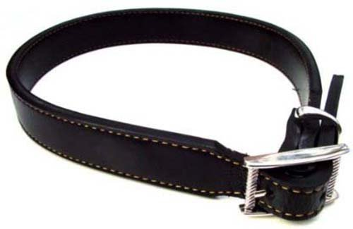 "MJ MAGNETIC BIO THERAPY LEATHER DOG COLLAR 24"" LONG MEDIUM TO LARGE DOG"