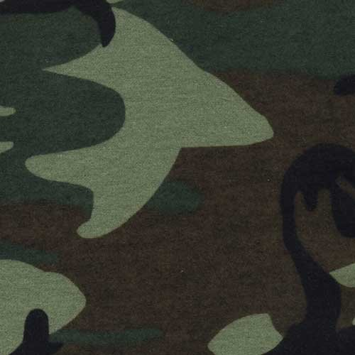 (NuAngel Green Camo 100% Cotton Flannel Fabric By the Yard - Made in America - 46