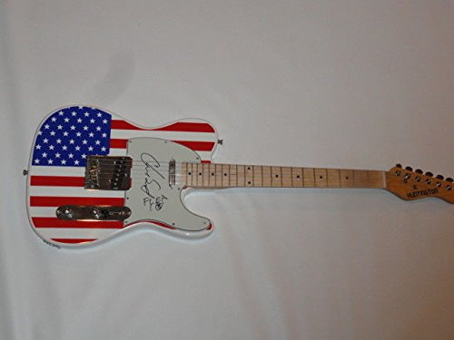 Autographed Red Hot Chili Peppers Signed Usa Flag Electric Guitar Chad Smith Flea JSA Certified