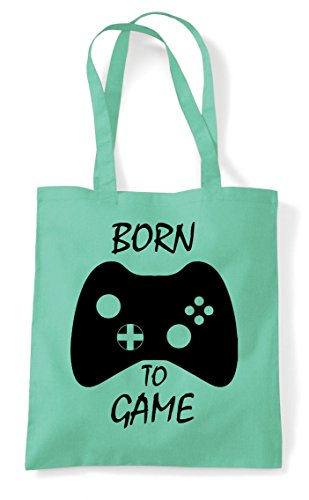 Born Shopper Bag Mint Game Tote With Controller To Statement Buttons Gaming rczxBwrFqP