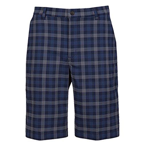 Greg NormanハイブリッドByron Plaid shorts-navy- 40