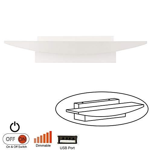 Facon 12v Luces decorativas de la lectura de la lámpara de la vanidad del RV con la base de acero inoxidable (aplique de...