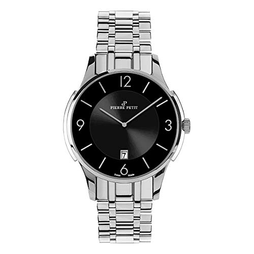 Pierre Petit P-850E Swiss Bracelet Watch - Silver/Black