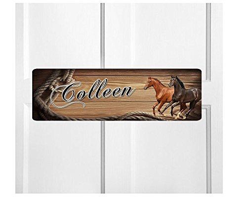Personalized Kids Room Door Sign-Horses Bedroom Door Sign-Room Plaque - Sign For Bedroom