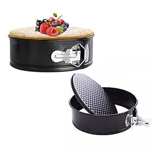 meizhouer 7 inch Non-Stick Bakeware Round Carbon Steel Springform Cake Pan, Chiffon Cake Mold