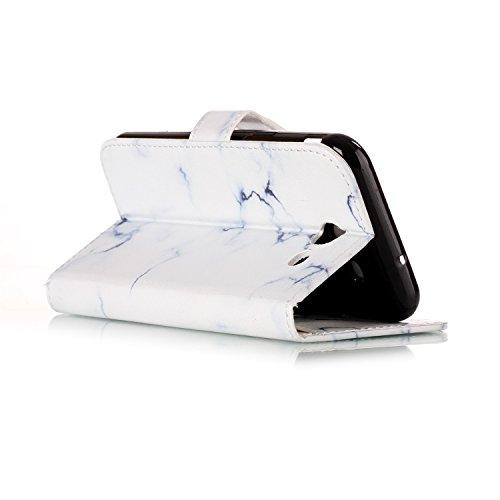 Funda Galaxy J5 2017(J530),SainCat Funda de cuero sintético tipo billetera con de Suave PU Carcasa Con Tapa y Cartera, Elegante Estuche Caja,Pintado en relieve árbol Cuero de la PU Leather Cubierta Pl Mármol blanco