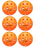 Escalade Onix Fuse Outdoor Pickleballs, Orange (Pack of 6)
