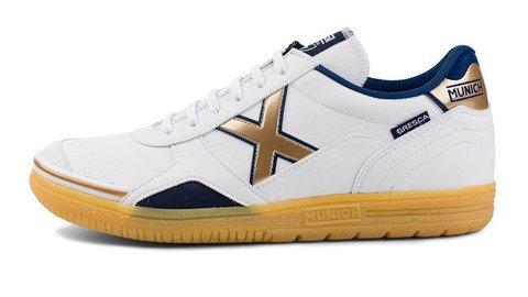 6351e594e MUNICH - Gresca 611 - Indoor Soccer Futsal Shoe - White Gold X ...