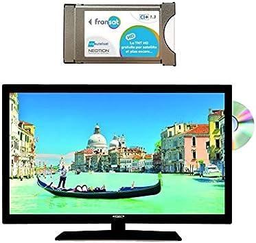 ANTARION Pack televisor 4 K HD DVD 19,6
