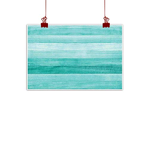 J Chief Sky Wall Painting Prints Teal Decor,Painted Wood Texture Penal Horizontal Lines Birthdays Easter Holiday Print Backdrop,Turquoise 32