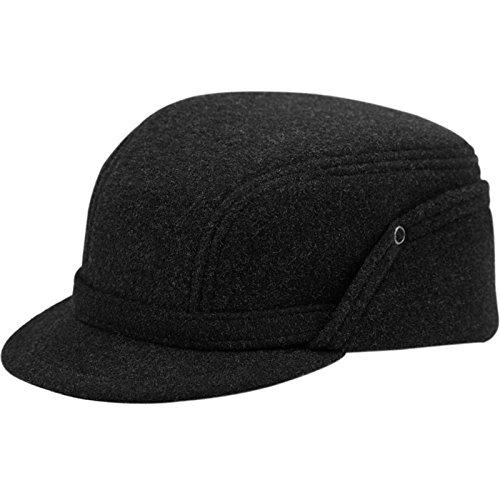 Wool Fleece Winter Working Cap with Ear Flap US 6 3/4 Dark grey