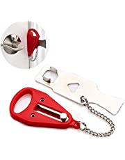 Lezed Draagbaar veiligheidsslot, supersterk tijdelijk deurslot, handmatig deurslot, voor veiligheid, privacy, als inbraakbeveiliging