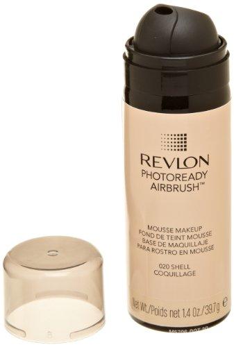 REVLON Photoready Airbrush Mousse Makeup, Shell, 1.4 Ounce (Airbrush Foundation)