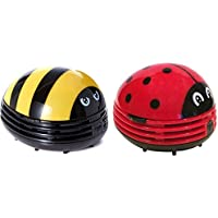 Crumby Mini Vacuum Sweepers, Crumby Lady Bug Vacuum and Crumby Bumble Bee Vacuum Bundle, Handheld Vacuum Cleaners, Cordless Vacuum Cleaner for Home