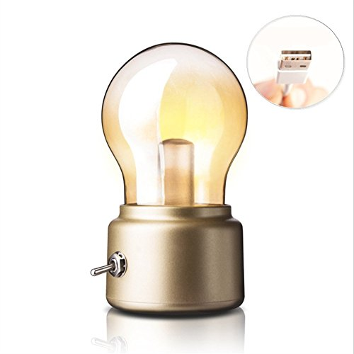 Creative Retro Bulb Light USB Charging Night Light Desk Lamp