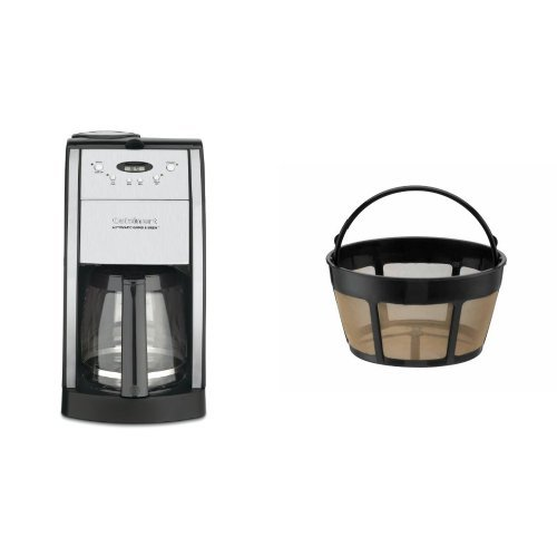Cuisinart DGB-550BK Grind-and-Brew 12-Cup Automatic Coffeemaker and Filter Bundle