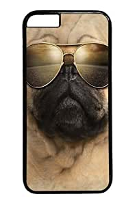 Aviator Pug Custom iphone 6 plus 5.5 inch Case Cover Polycarbonate Black