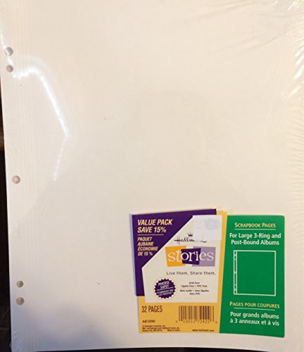 Hallmark Scrapbook Pages 32 Pages Ar1090 Photo Safe for 3-ring and Post-bound Albums