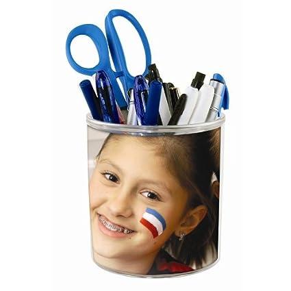 amazon com create your own pencil cup photo diy desktop organizer