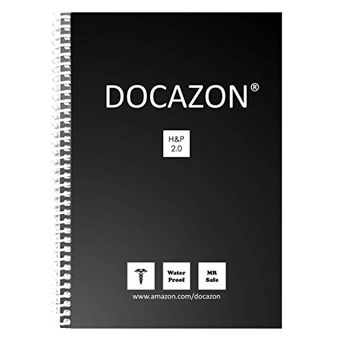DOCAZON H&P 2.0 | The Perfect Medical History & Physical Exam Notebook (Spiral, Water Proof, MR Safe, 100 Sheets, 5.5