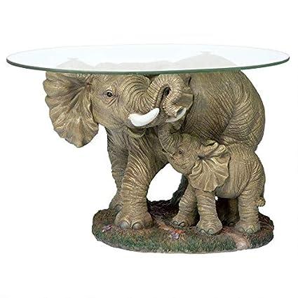 Glass Top Elephant Coffee Table 1