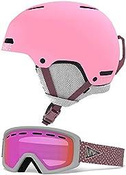 Giro Crue Combo Pack Kids Snow Helmet w/Matching Goggles