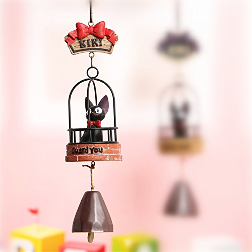 YOURNELO Cute Creative Miyazaki Hayao Japanese Style Kiki's Delivery Service Aeolian Bells Hanging Home Door Decoration Ornaments (D Guard)
