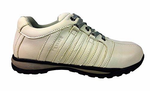 inoxidable talla de Gorra HIKER para UK EUR Blanco para acero con zapatos zapatillas deporte tobillo de hombre de Gris Starex 8 42 OFdCqwtw
