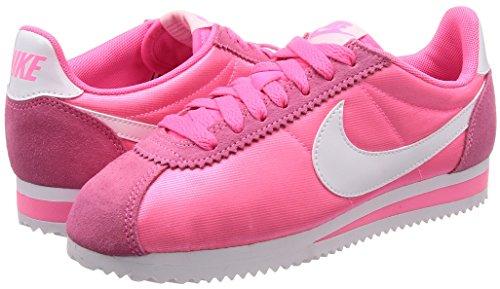 Pink Cortez Classic laser Para Zapatillas Mujer Nylon Multicolor Nike white Wmns 001 qCwEzz