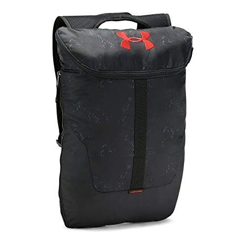 Under Armour Unisex Expandable Sackpack, Stealth Gray (008)/Radio Red, One Size