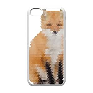 iPhone 5c Cell Phone Case White Abstract Fox Hvaom