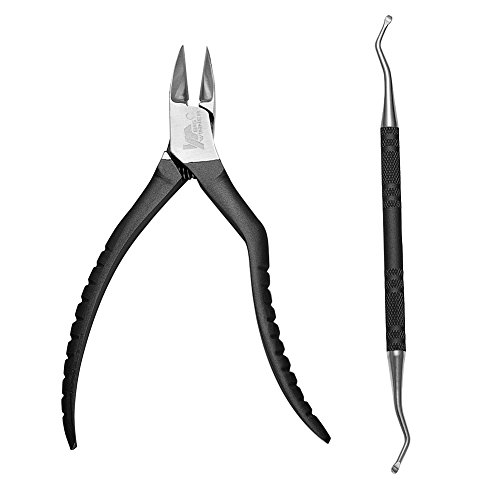 Professional Nail Clipper,BIGWINNER Heavy Duty Nail Nipper for Thick & Ingrown Toenails Premium Stainless Steel-Black by BIGWINNER