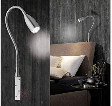 2er Set anschraubbare LED Leseleuchten / Bettlampen, dimmbar per Gestensteuerung