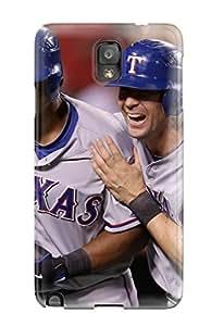 New Design Shatterproof EWTxouD8323ZByOp Case For Galaxy Note 3 (texas Rangers )