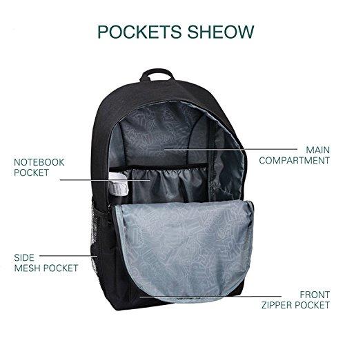 School Backpack,Cool Unisex Canvas Backpack Anime Luminous Backpack Daypack Shoulder School Bag Laptop Bag Negro