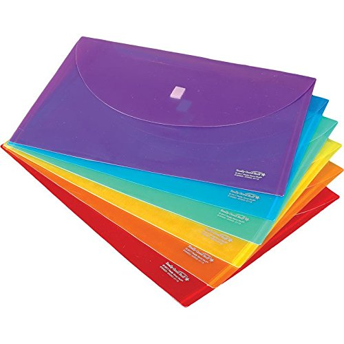Really Good Stuff Homework Envelopes with HookAndLoop Closures Grouping Colors