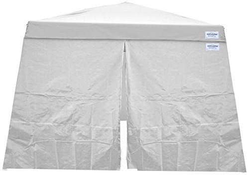 Caravan Canopy 11207812014 Set for 81 sq.ft. V-Series Slant Leg 12x12 Canopy Sidewall, White