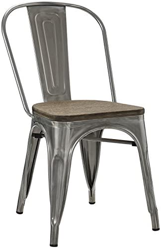 Modway Promenade Industrial Modern Steel Dining Side Chair