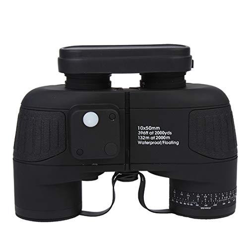 Kirabon High-Power Binoculars HD Low-Light Night Vision Outdoor Coordinates Rangefinder for Outdoor Use (Color : Black)